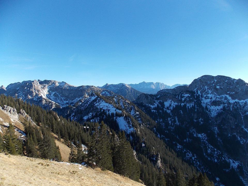 Allgäu, Mountains, View, Snow, Allgäu Alps, Alpine