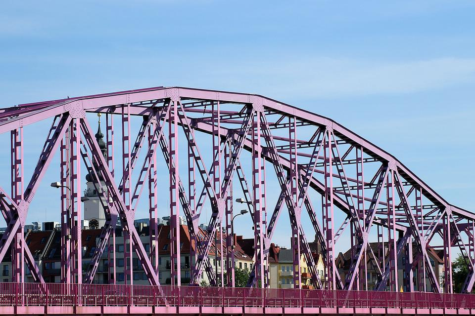 Bridge, View, Pink Bridge, The Old Town, Architecture