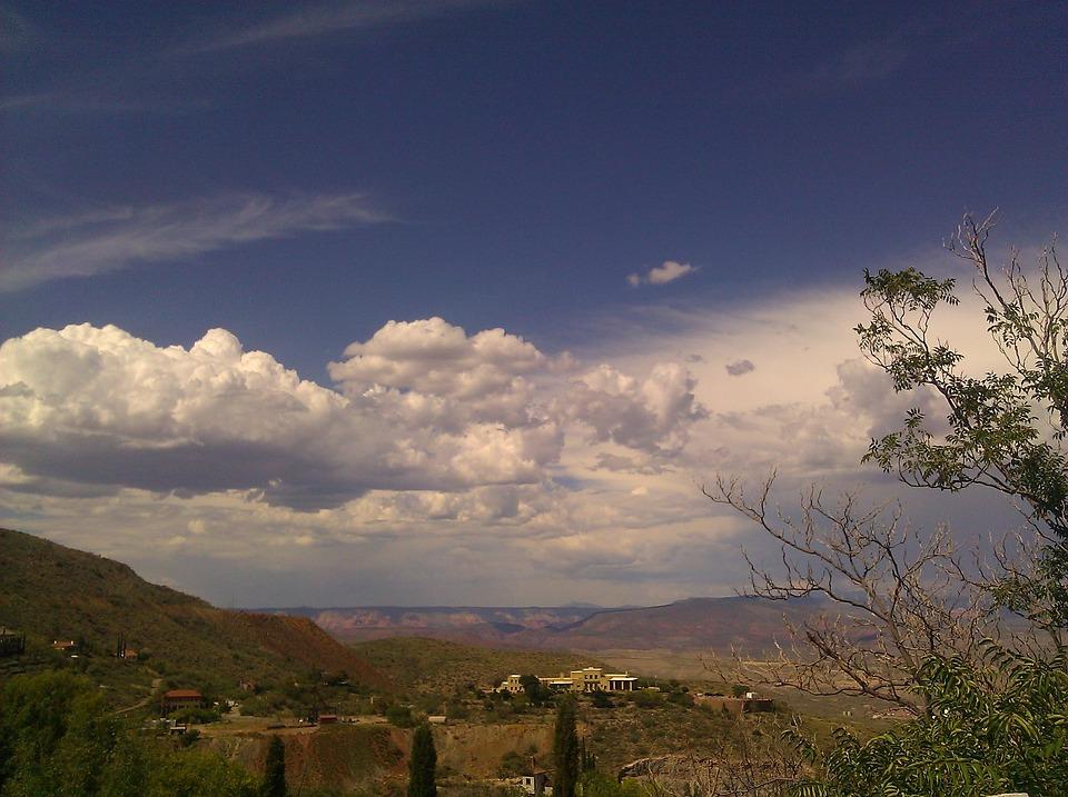 Jerome, Arizona, View, Nature, Aerial View, Mountains