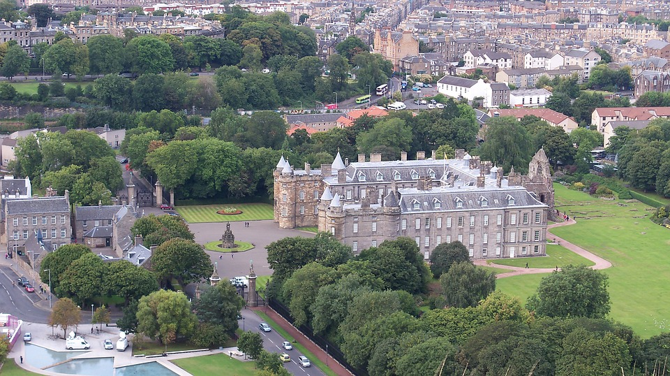 Edinburgh, Castle, View, Scotland, Architecture