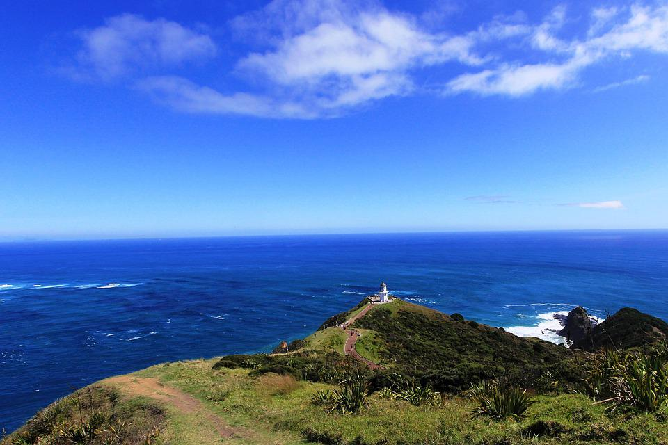 View, Stretch, Distance, New, Zealand, Coastline