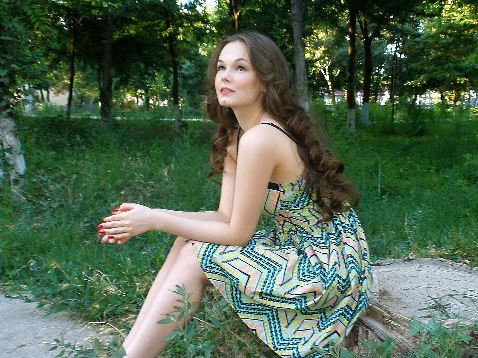 Girl, Beauty, Fairy, Tender, Forest, Park, Hair, View