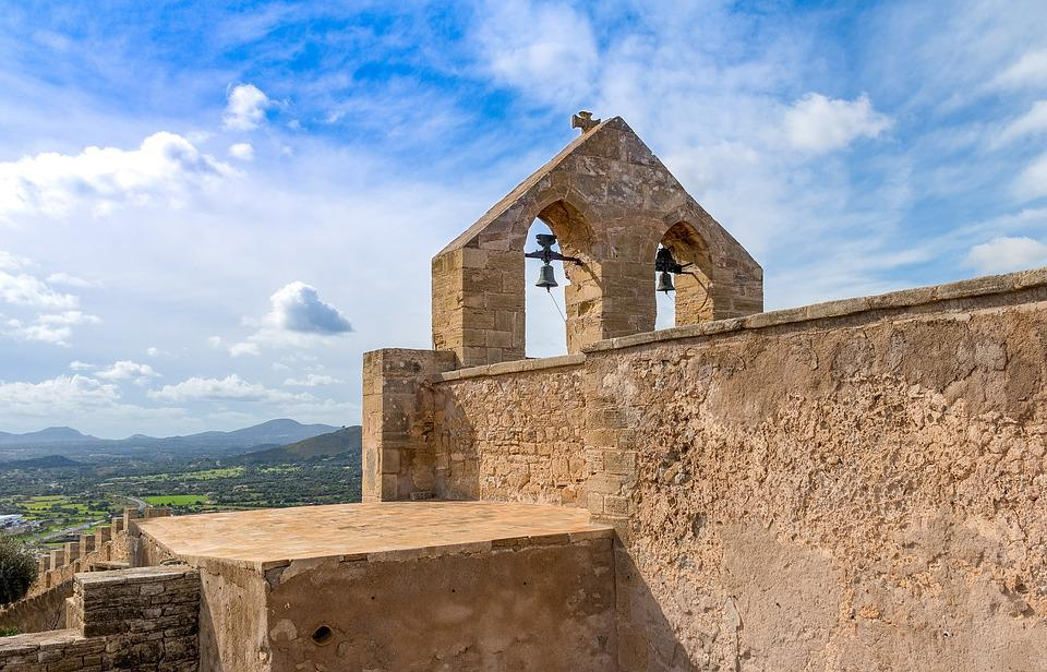 Mallorca, Capdepera, View From A Castle, Bell Tower