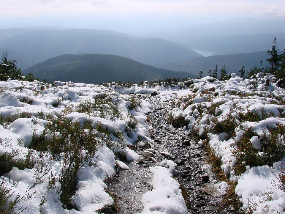 Melting Snow, View From Bald Mountain, Mountains