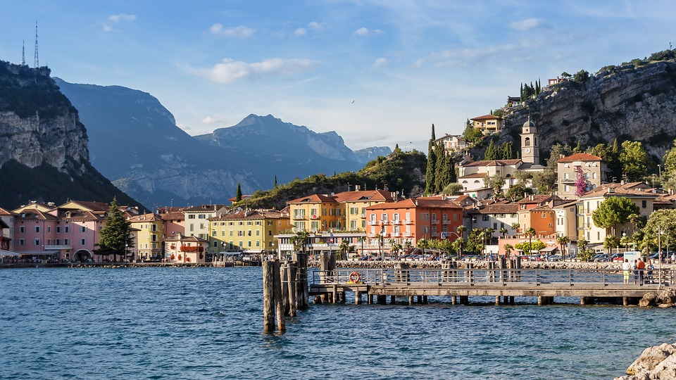 Lake, View, Mountains, Garda, Italy, Outlook, Waters