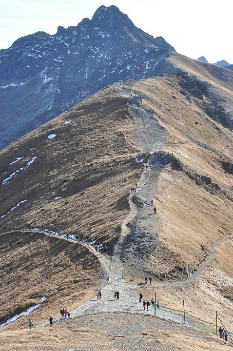 Mountains, Trail, Kasprowy Wierch, Landscape, View