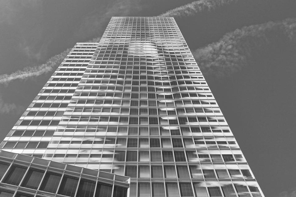 Perspective, Skyscraper, View, Sky, Modern