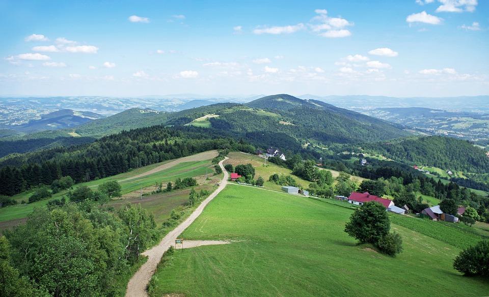 Mountains, Panorama, View, Malopolska, Nature