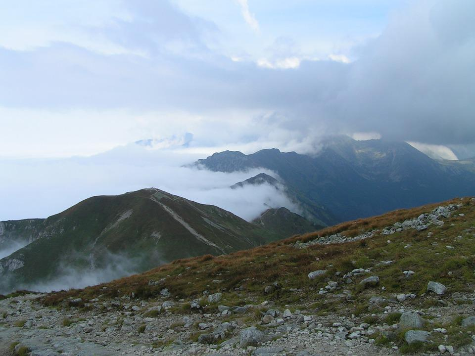 Mountains, The Path, Trail, View, The Fog
