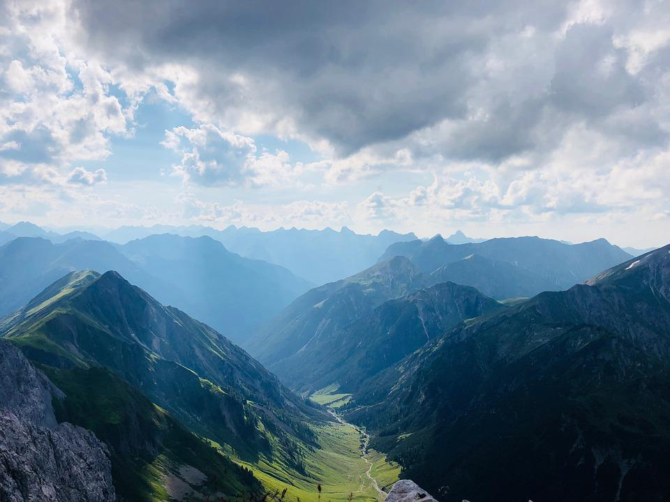 Panorama, Alps, Nature, Mountains, View, The Sky