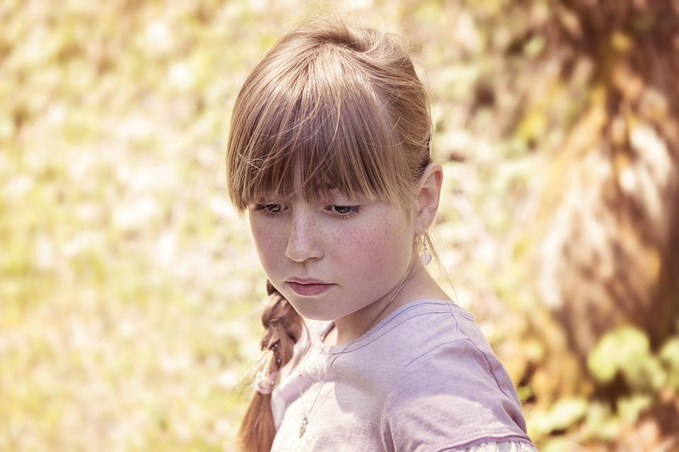 Person, Human, Child, Girl, Blond, Face, View, Out