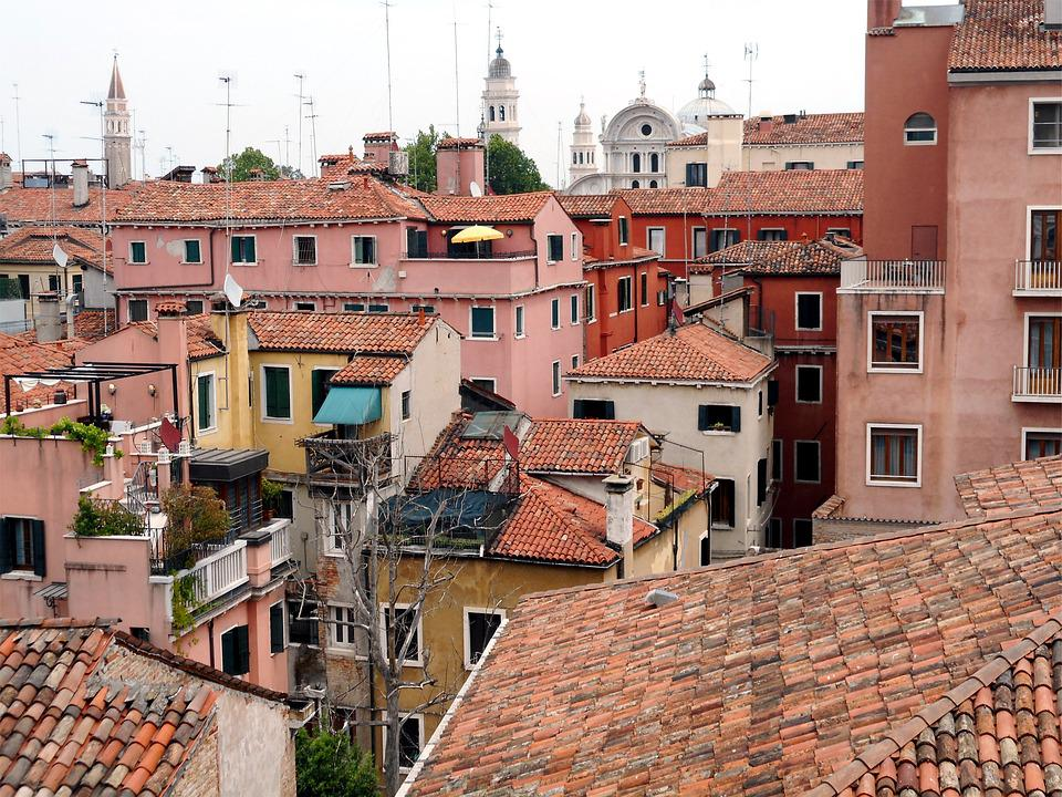 House, Venice, Italy, Roof, Old Houses, View