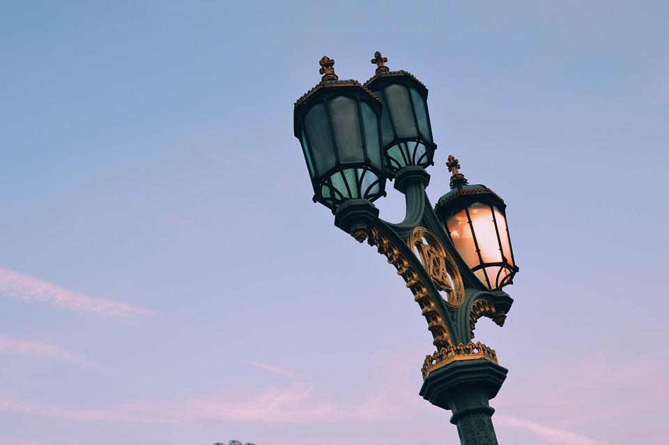 Lamp, Lights, Street, Evening, View, Sky, Cloud, Europe