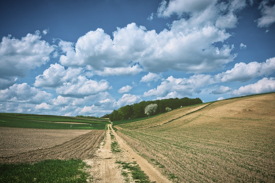 Landscape, Sky, Spring, Clouds, Nature, Poland, View