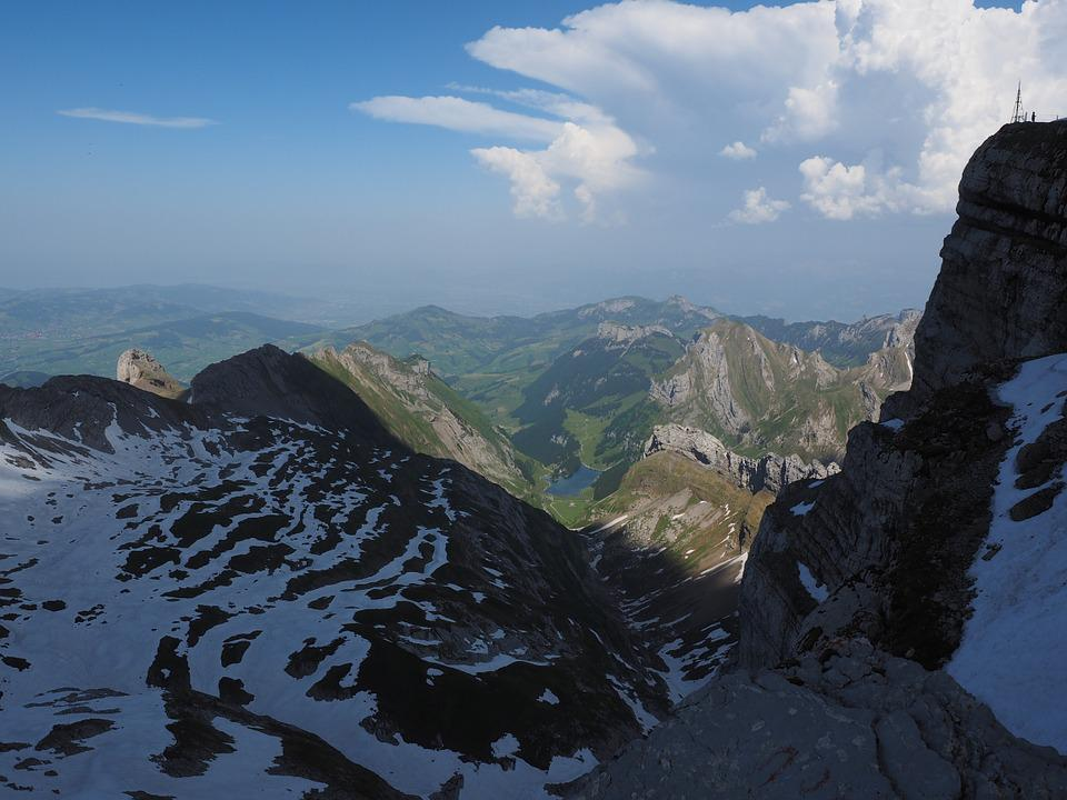 Säntis, Summit Area, Weather Station, Viewpoint, View
