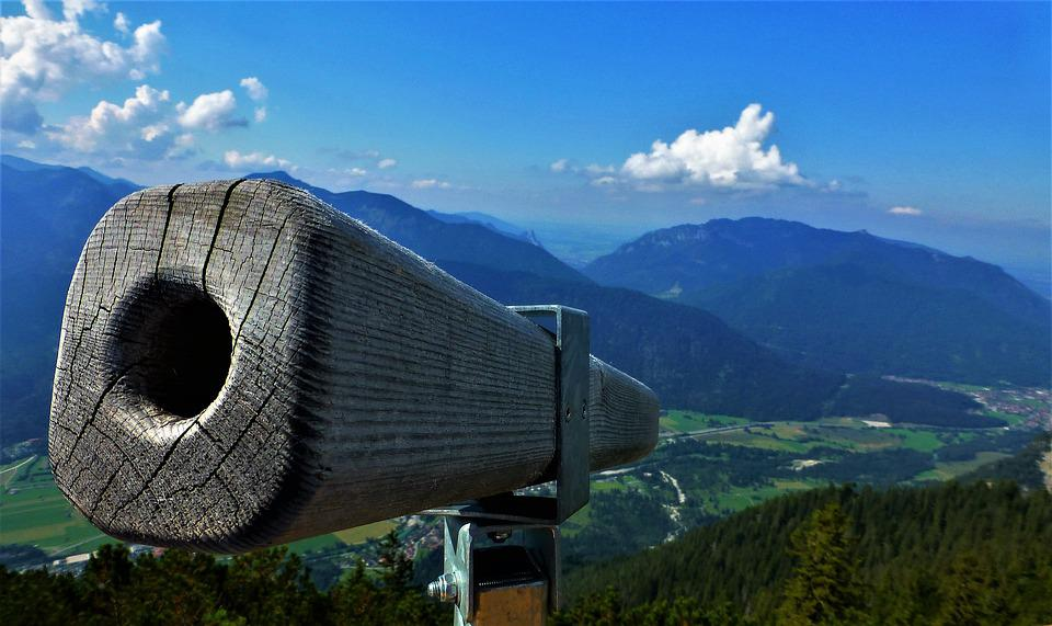 Distant View, Telescope, Outlook, View, Binoculars