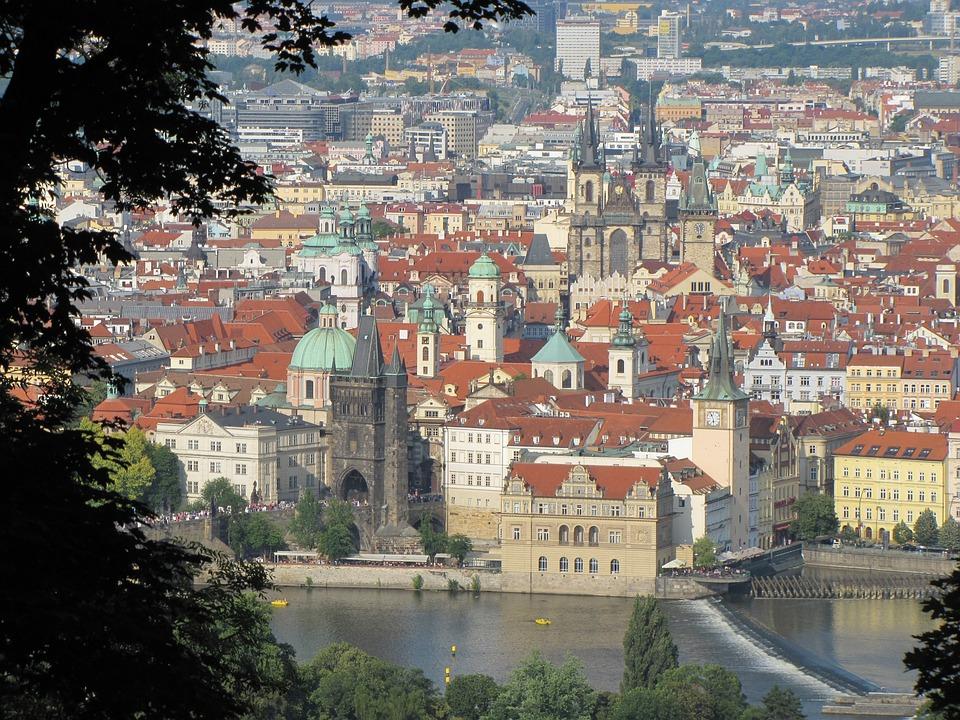Prague Czech Republic, The Moldau, View, Church