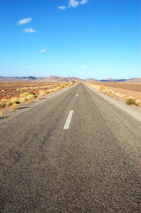 Way, Desert, Asphalt, View, Landscape, The Path