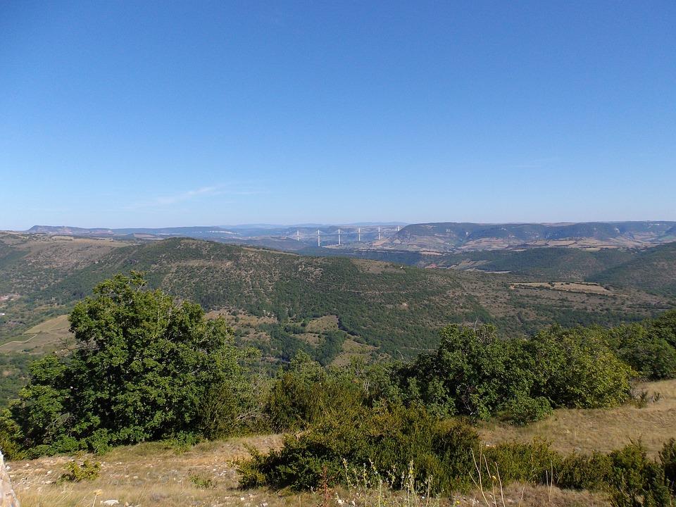 Aire De Montjaux, Landscape, Viaduc De Millau, View