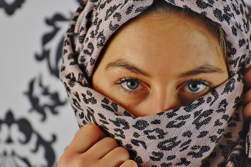 Woman, Headscarf, View, Eyes, Portrait, Face, Head