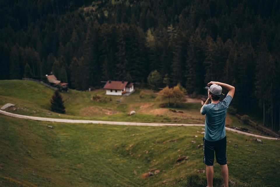 Photographer, Man, Mountain, View, Viewpoint, Young Man