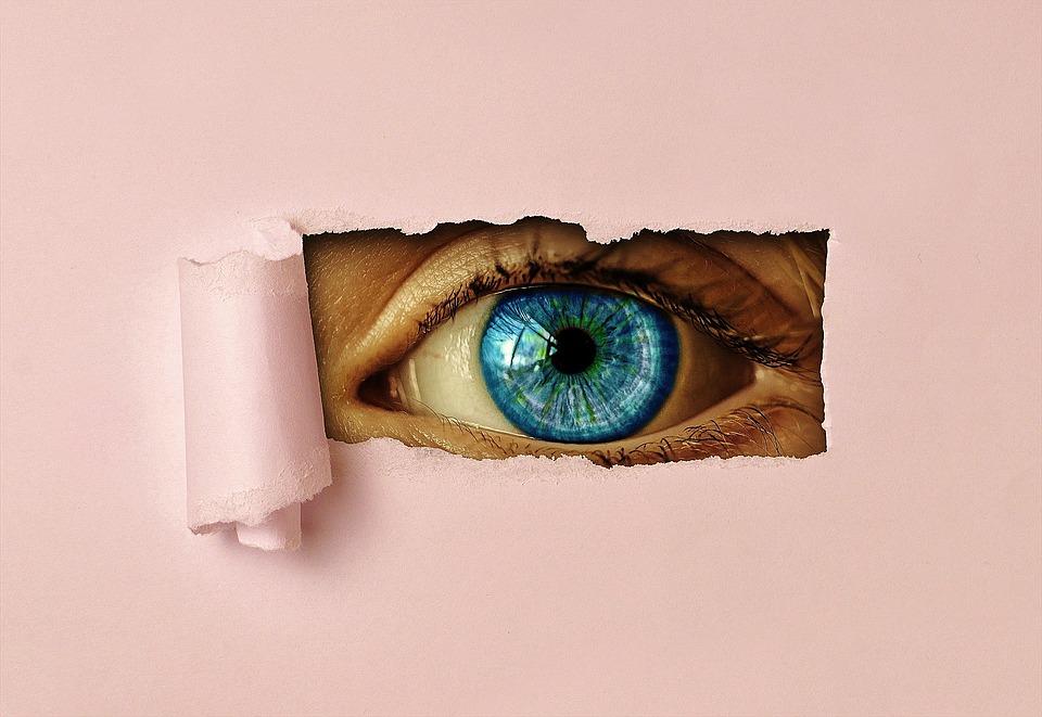 Eye, Watch, Paper, See, Iris, View, Vigilant, Hole