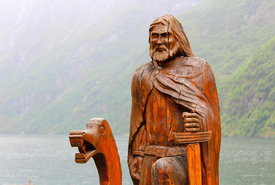 Gudvangen, Nærøyfjord, Viking, Wooden Sculpture