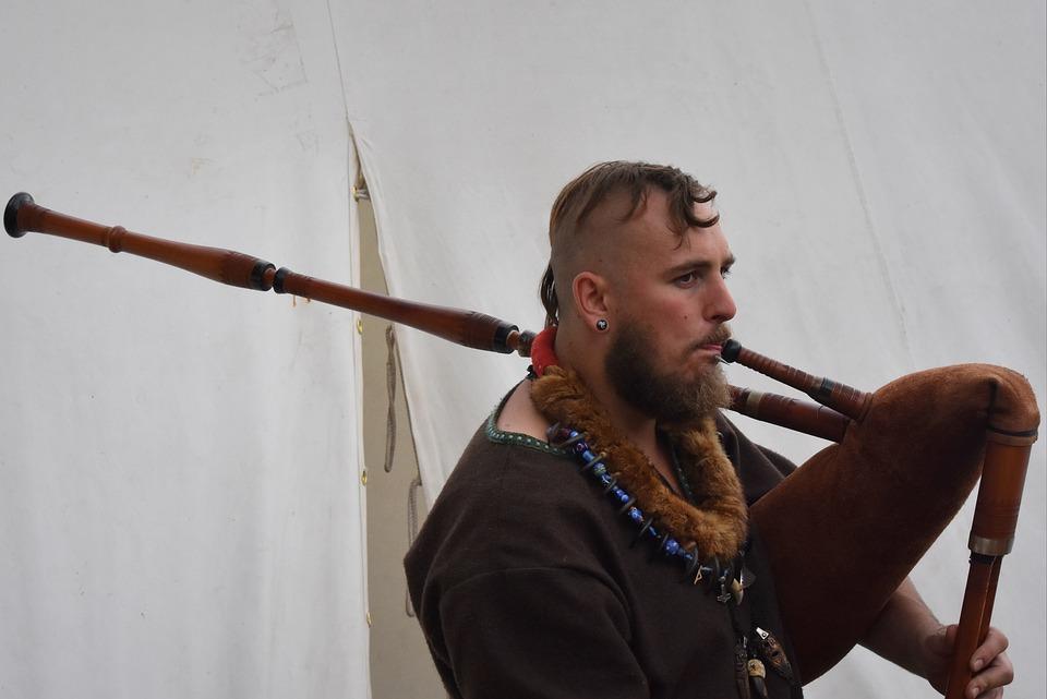 Man, People, Viking, Music, Musical Instrument, Blowing