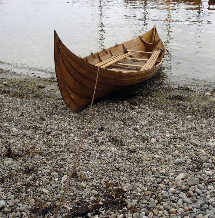 Boat, Viking Boat, Viking, Wooden Boat, Veins