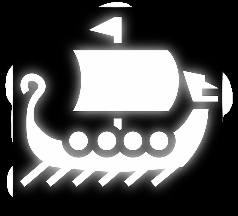 Boat, Icon, Pictogram, Vikings