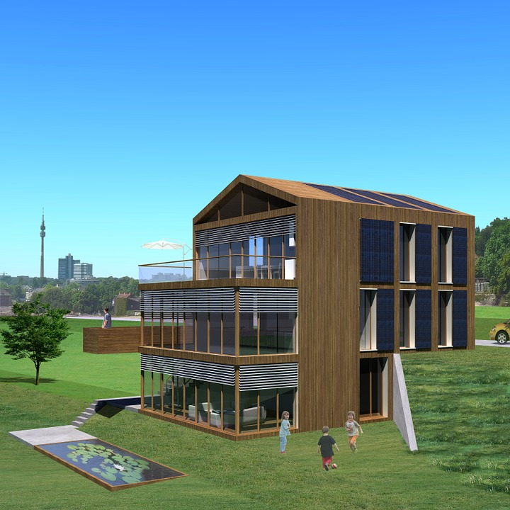 Passive, Single Family Home, Villa, Rendering