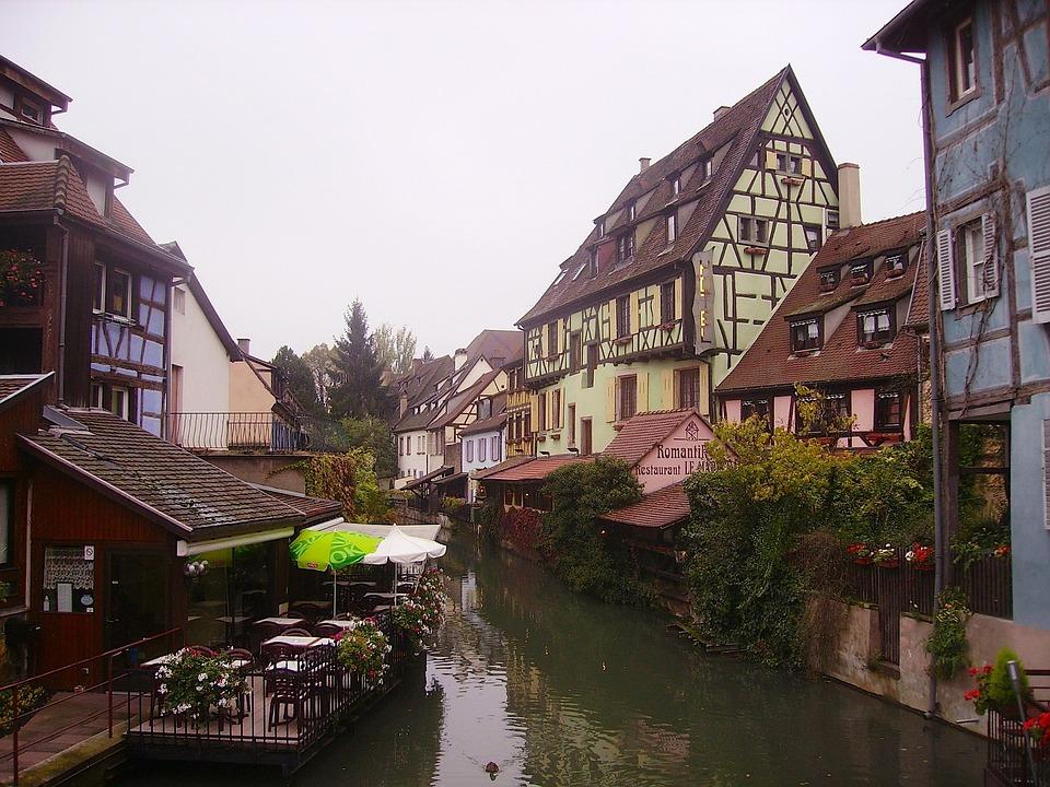 France, Village, Buildings, Town, Architecture, Sky
