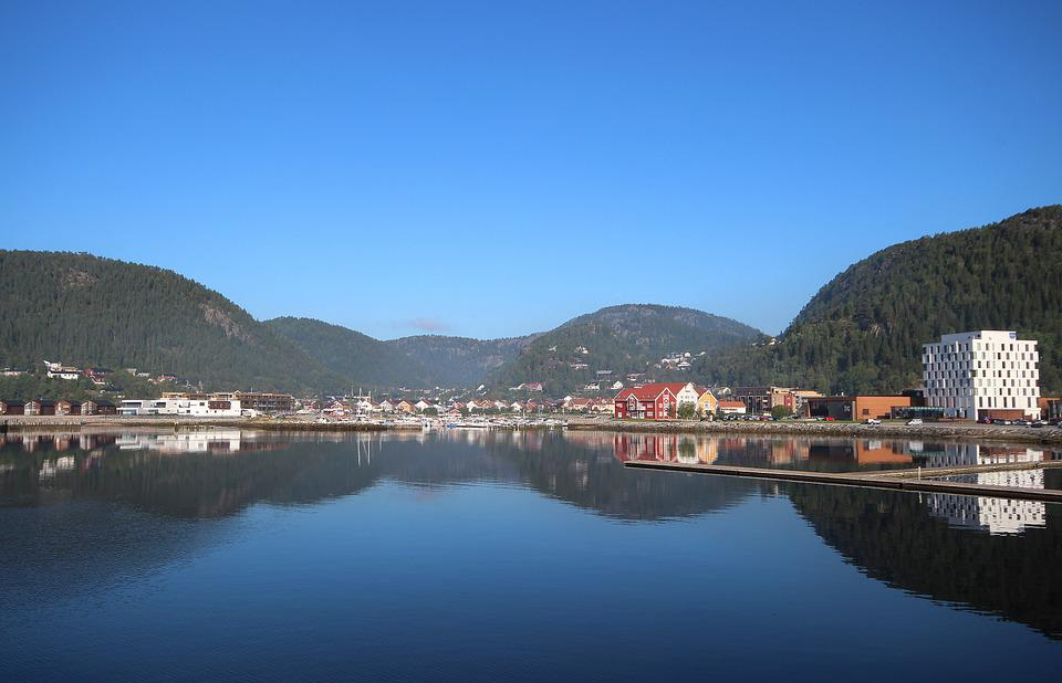 Village, Lake, Namsos, Blue, The Coastal, Namdalen