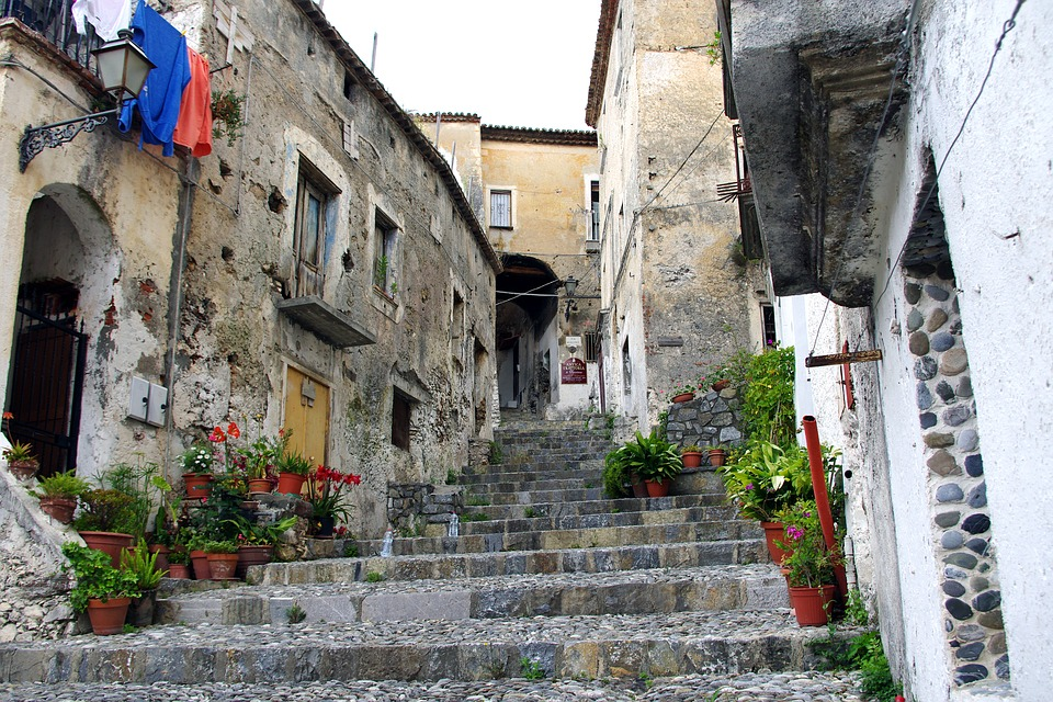 Scalea, Calabria, Borgo, Old Houses, Town, Village