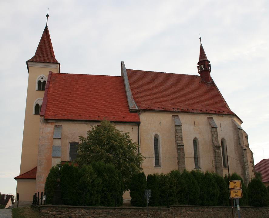 Romanesque, Church, Czechia, Village, Catholic