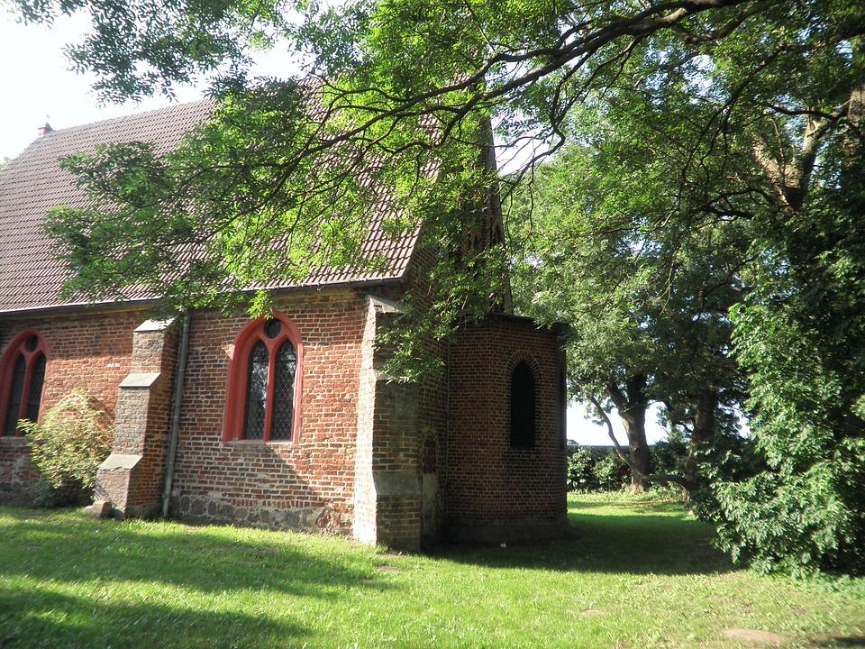 Village Church, Brick, Island Of Usedom, Netzelkow