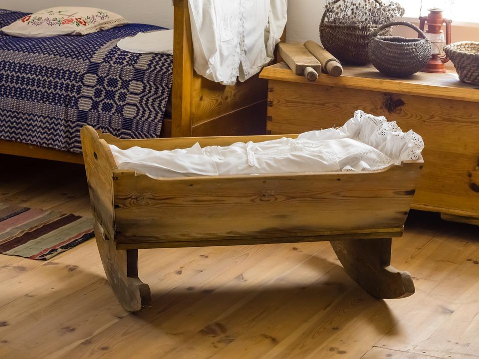 Cradle, Village, Chamber, Wood