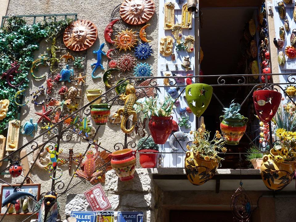 Pottery, Door, Village, Provence