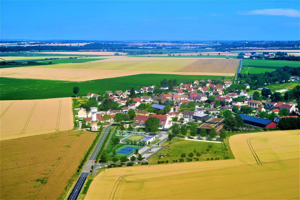 France, Village, Rural, Nature, Fields, Attachment
