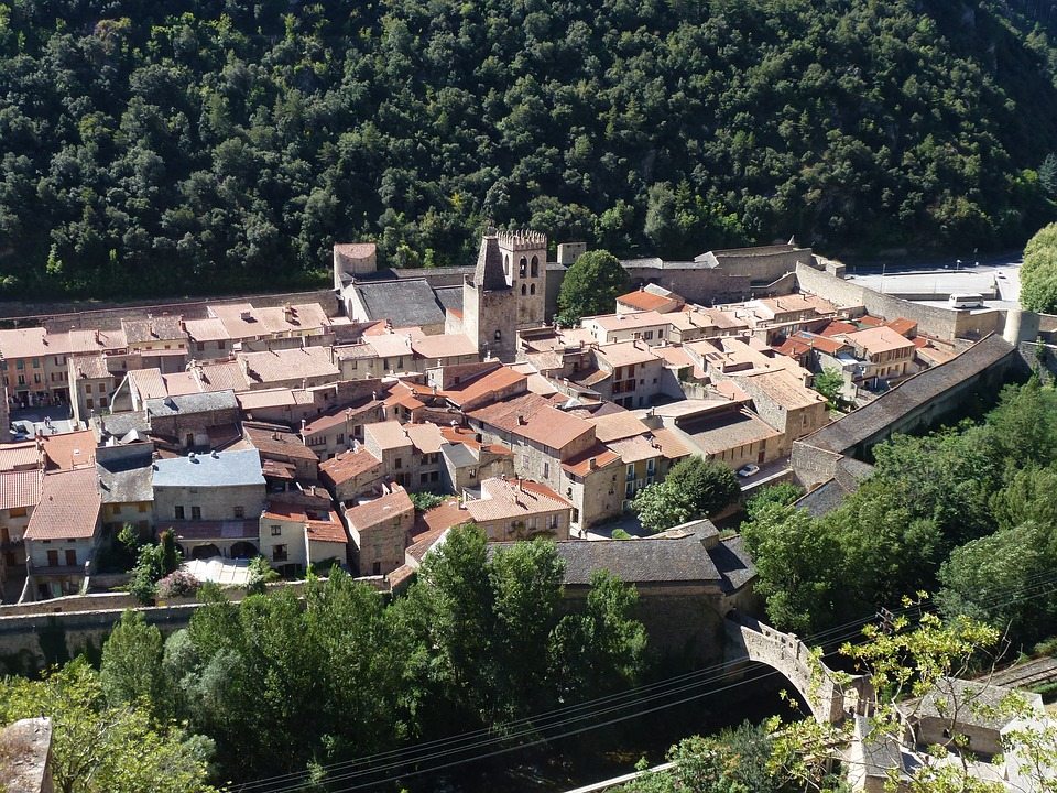 City, Village, Old, Stone Houses, Provence, France