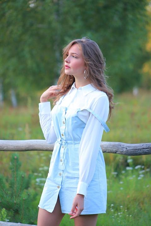 Beauty, Briansk, Bryansk Oblast, Village, Field, Girl