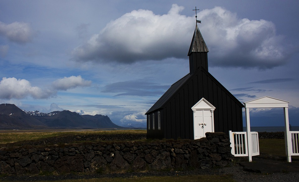 Iceland, Church, Village, Building, Religion, Outdoors