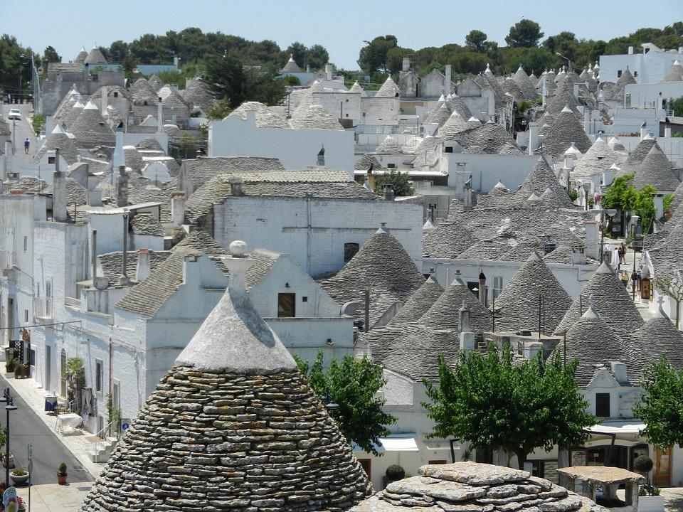 Village, Architectural, Italy, Puglia, Alberobello
