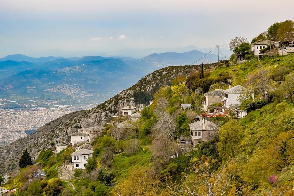 Greece, Pelio, Makrinitsa, Village, Architecture