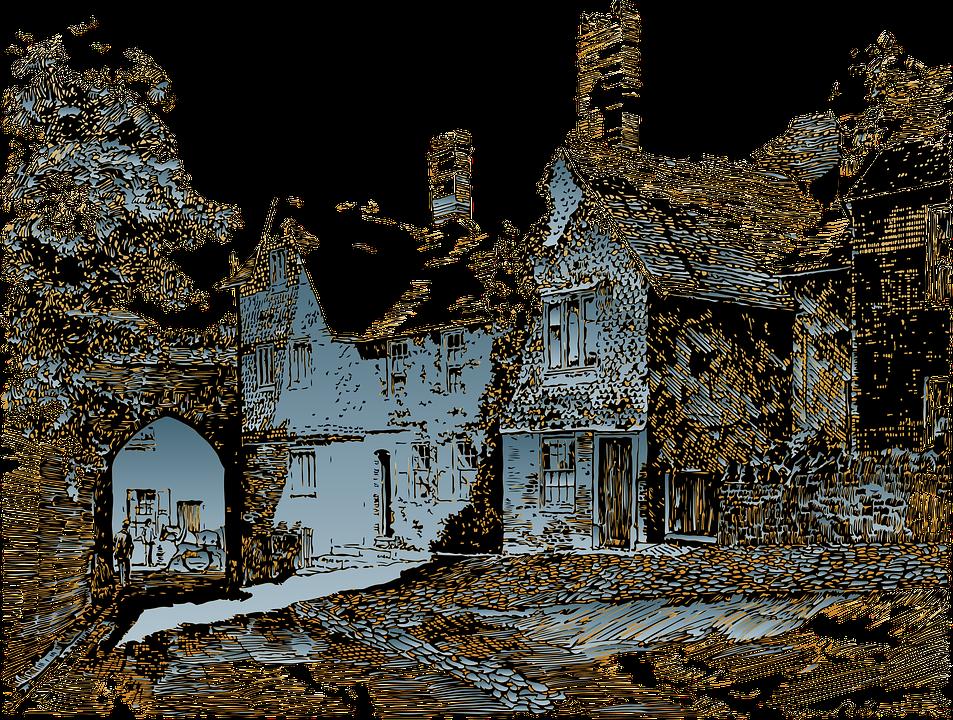 Village, Houses, Old, Medieval