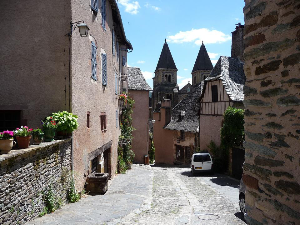 Village Of Conques, Medieval, France