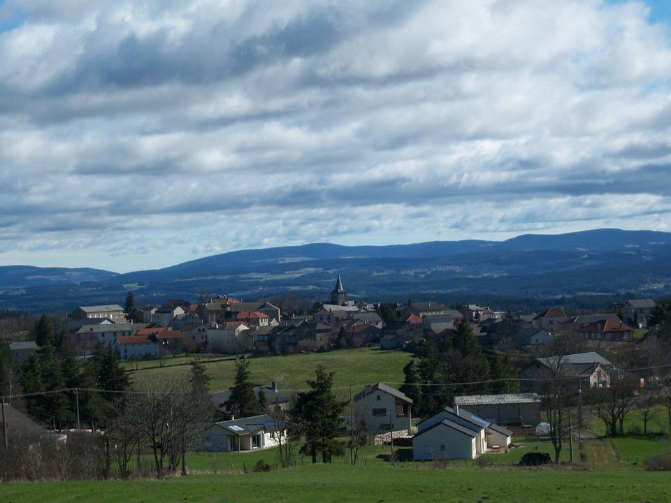 Village Of Saint-jeures, Auvergne, High-loire