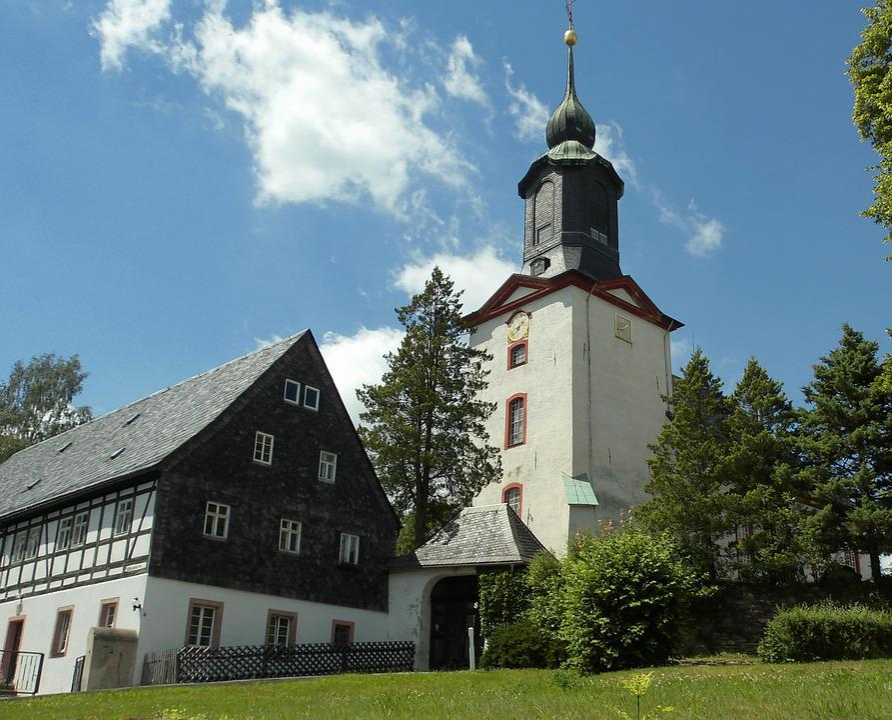 Gahlenz, Saxony, Church, Village, Place