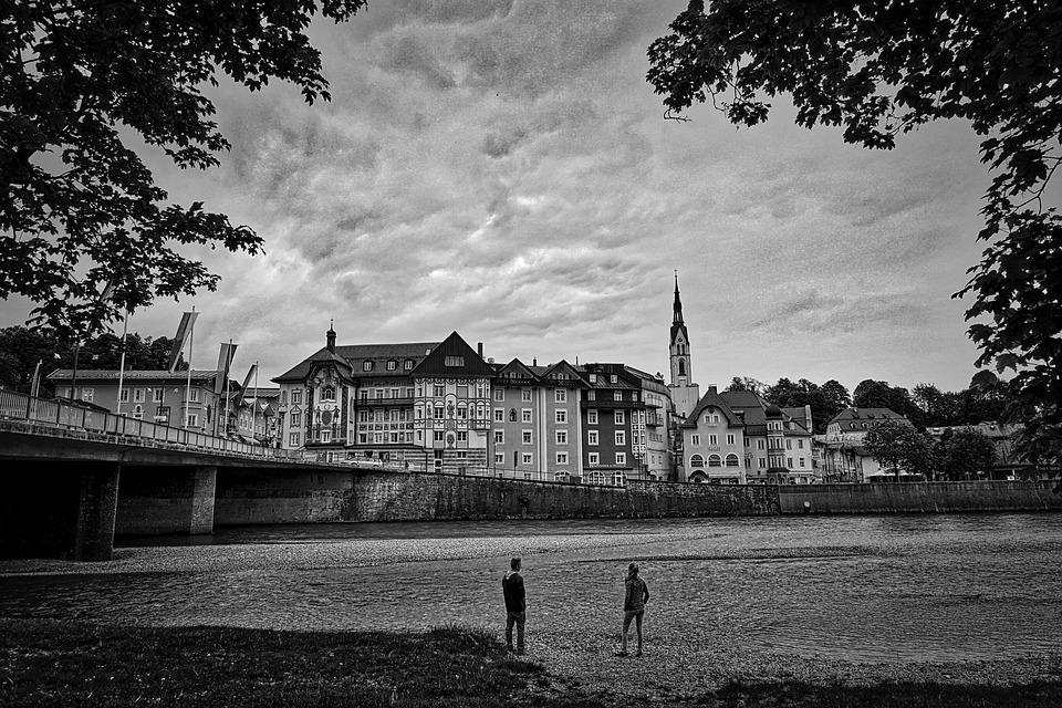 Bad Tolz, Village, River, Cityscape, Town, Historic