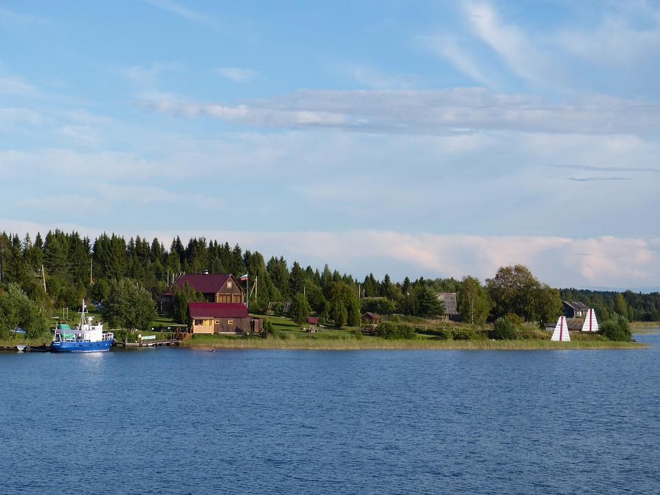 Lake Ladoga, Russia, Landscape, Nature, Village, Homes